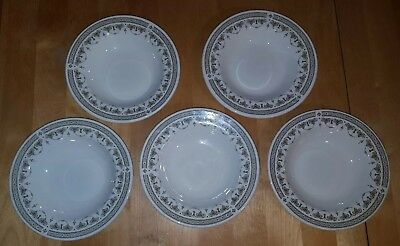 Wedgwood Bone China Hotel Ware England Chandelier Rim Soup Cereal Bowl Lot of 5