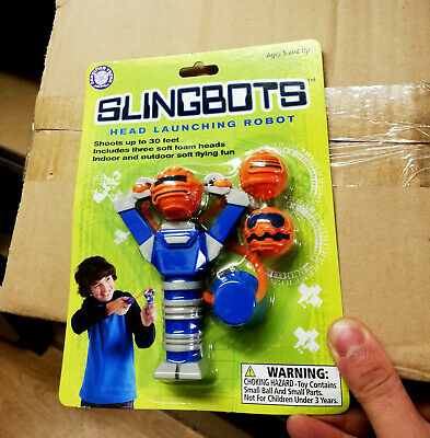 48 x Wholesale Kids Slingbots Head Launching Robots Toys Outdoor Indoor Flying