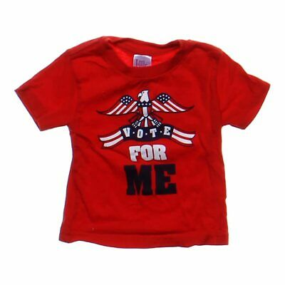 Little Teez Baby Boys  Graphic Shirt, size 12 mo,  red,  cotton
