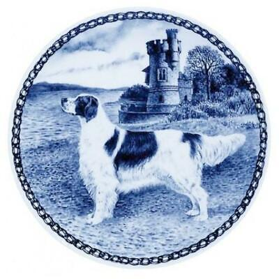 Irish Setter - Red & White - Dog Plate made in Denmark from the finest European