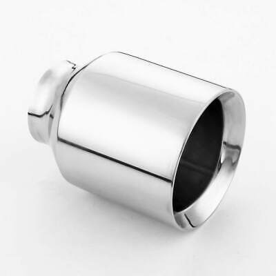 """Dual Wall 5"""" Out 3"""" Inlet 6.5"""" Long Angle Cut 304 Stainless Steel Exhaust Tip"""