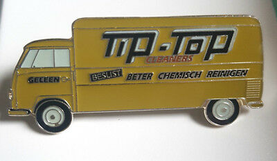 VW BUS T1 Tip-Top Cleaners - Langversion Transporter - Ansteckpin   ANSEHEN !