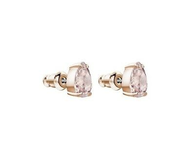2a651ed6a Swarovski Crystal Mix Pierced Earrings Pear Pink/rose Gold 5427951.new In  Box.