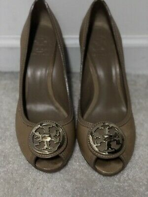 276e92303fb NEW TORY BURCH Ambrose Open Toe Wedge Gold 9 Women s -  159.99 ...