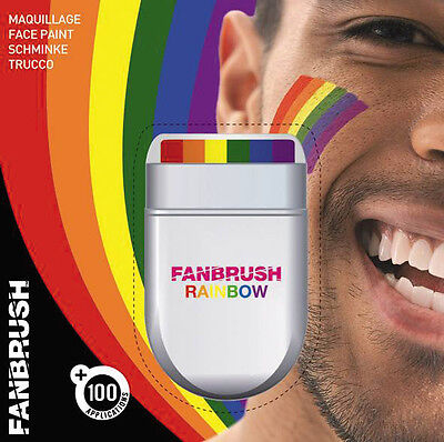 Gay Pride  Rainbow Face Paint By Fanbrush