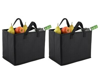 2 x Insulated Organiser Lunch Bag Cooler Box Tote Bag Picnic Travel Camping