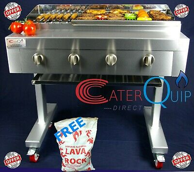 4 Burner Gas Charcoal Char Grill Bbq Heavy Duty For Commercial Use