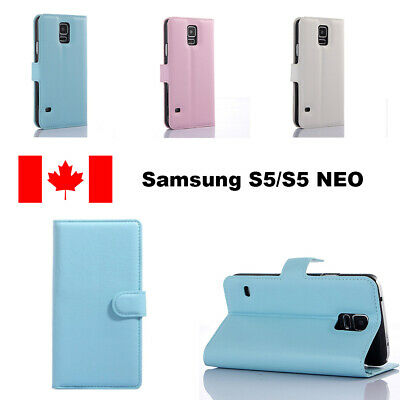 For Samsung Galaxy S5/S5 NEO Leather Wallet Case Cards Holder Case Cover