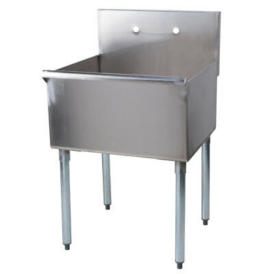"24"" x 21"" x 14"" Stainless Steel Commercial Utility Sink Prep Hand Wash Laundry"