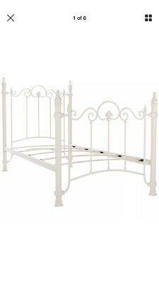 Julian Bowman Florence Metal Bed Frame In Cream Single 3ft 90cm