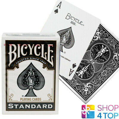 Bicycle Rider Back Black Standard Index Playing Cards Deck Poker Uspcc New