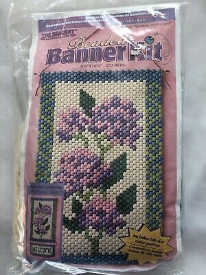 "The Beadery ""Summer Hydrangea"" Beaded Banner Kit 9 3/4 X 14 3/4"