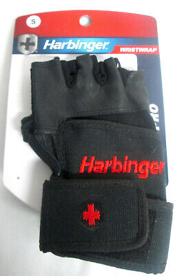 Harbinger 14010 Ventilated Pro Wristwrap Weight Lifting Gloves - Black - Size S