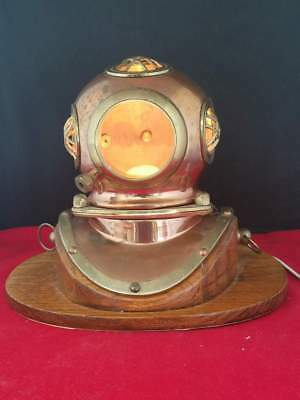 "Vintage Brass Steel Diving Maritime Diver's Helmet Lamp Light Replica 7.75""H"