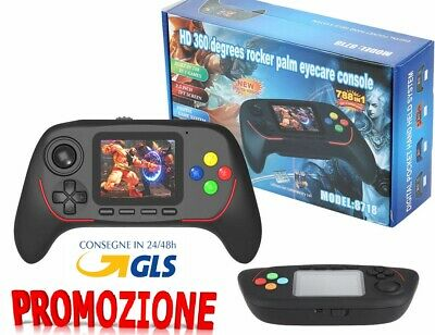 "CONSOLE PORTATILE STATION DISPLAY LCD 2,5"" 788 GIOCHI GAME 16 BIT Bluetooth"
