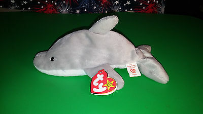 TY FLASH THE Dolphin Beanie Baby Retired Mint with Tags -  40.00 ... 30774a7a08e