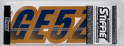 STIFFIE Techtron TT62 Boat PWC Letter Number Decal Registration SKY BLUE NAVY