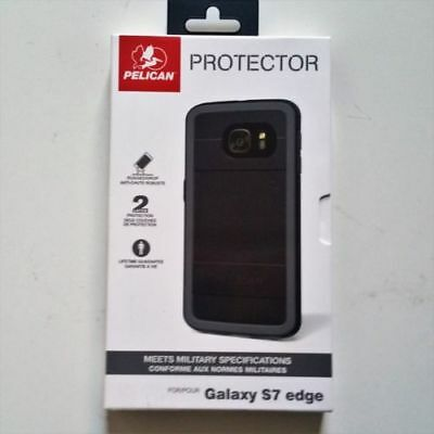 Pelican Protector Case For Samsung Galaxy S7 EDGE Rugged - Black - Brand NEW!