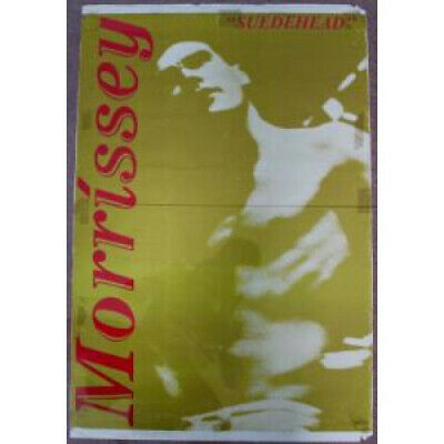 MORRISSEY Suedehead POSTER UK His Masters Voice 1988 Original Rolled Promo