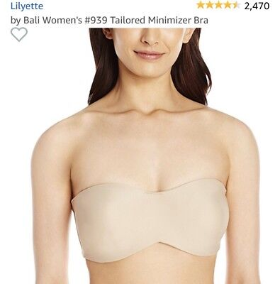 9f80bd411e9f4 2 LILYETTE BY Bali Tailored Strapless Minimizer Bras 939 -  64.30 ...