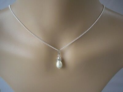 v15 Teardrop Pearl Pendant Necklace Ladies Necklaces for women Bridal Wedding
