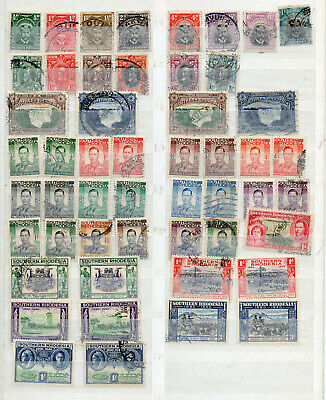 SOUTHERN RHODESIA KGV to QEII 83 DIFFERENT MINT HINGED / USED STAMPS