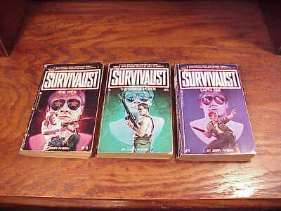 Lot of 3 The Survivalist Series Paperback Books, by Jerry Ahern, numbers 5, 6, 9