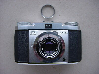 ZEISS IKON CONTINA 35mm FILM CAMERA - NICE CONDITION + FILTER & LEATHER CASE.