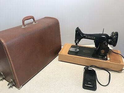 Vintage Singer 99k Electric Sewing Machine with Foot Pedal & Carry Case