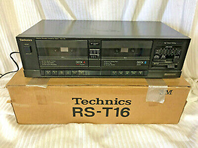 Technics Stereo Double Cassette Deck Player Rs-T16