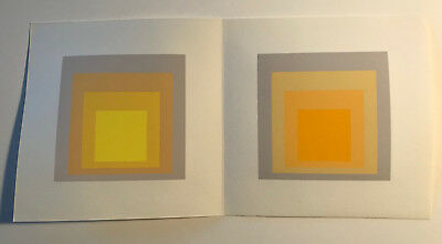 Josef Albers Hommage to the Square double screenprint by Ives Sillman 1973