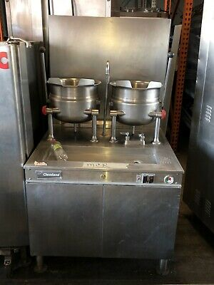 """Cleveland 36EMK6624 36"""" Kettle Cabinet Assembly w/ (2) 6 Gallon, Boiler, Double"""