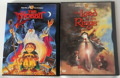 THE HOBBIT & THE LORD OF THE RINGS DVD LOT OF 2 Animated Original Snapcase OOP