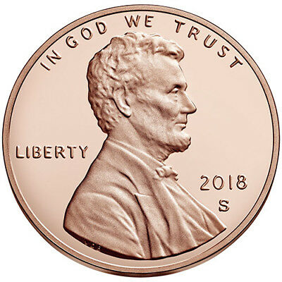 2018 S Proof Lincoln Cent Shield
