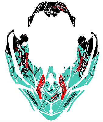!Seadoo SPARK trixx Bombardier 2up 3up Jet Ski Graphic Kit Decal Wrap RED GREEN