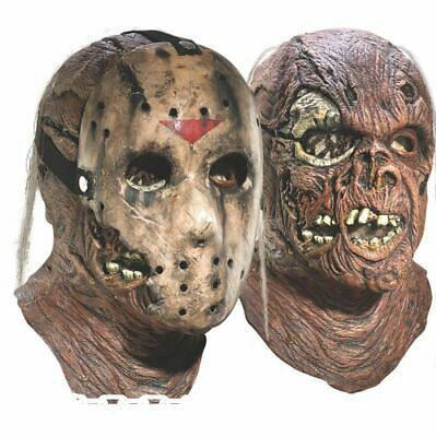 Jason Voorhees Mask Friday the 13th 7 New Blood Halloween Costume Accessory