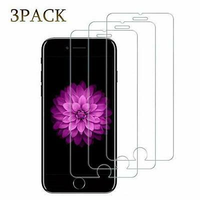 3-Pack For iPhone 7/8 & 7/8 Plus Tempered Glass Screen Protector Bubble Free HD