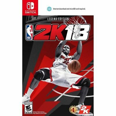 NBA 2K18 Legend Edition (Nintendo Switch, 2017) Brand New Factory Sealed