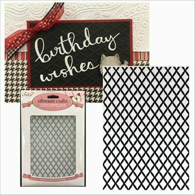 Embossing Folder TIED TOGETHER Sizzix Cuttlebug Gift Wrapping Cards Card Making