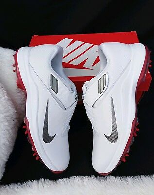 Size 8 Men s nike TW  17 Tiger Woods White red silver Golf Shoes 880955 100 9c6309fcf