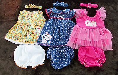 #B160,SALE!! New 9 Pcs/3 Set Baby Girl Clothes For Baby Girl 6-9 Months