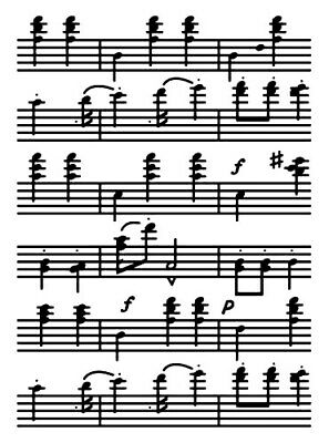 COUTURECREATIONS Embossing Folder MUSIC NOTES Sizzix Cuttlebug Cards Card Making