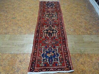Cr. 1960 Gharajeh Antique Exquisite Stunning Hand Made Persian Runner Rug