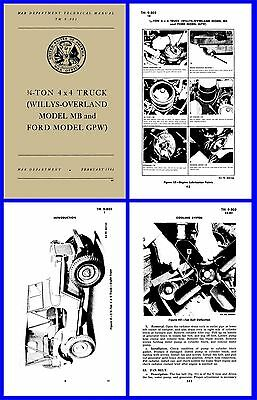 Willys & Ford GPW Jeep Technical Manual 1944 on CD