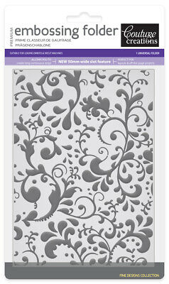 Couture 5x7 Embossing Folder EXOTIC Sizzix Cuttlebug Cards Card Making