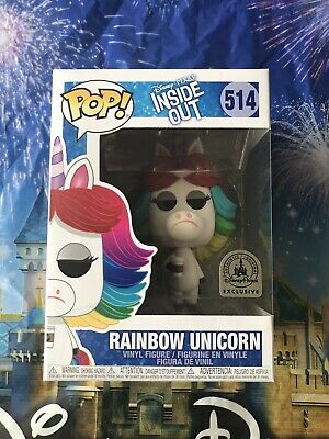 Funko Pop Inside Out Rainbow Unicorn Disney Parks Exclusive In Hand