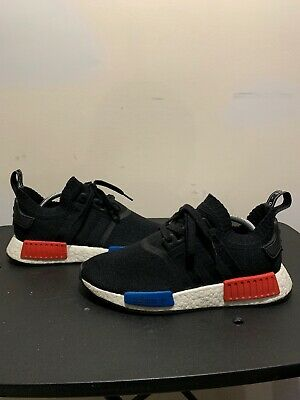 the latest 5a26e fa6bb S79168 ADIDAS NMD R1 PK Primeknit OG Black Red Blue Size 8 Athletic Shoes
