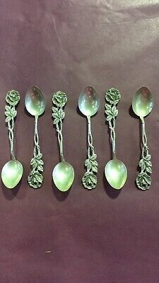 Antique 835 Silver German Hildesheimer Rose Style Sugar Spoons
