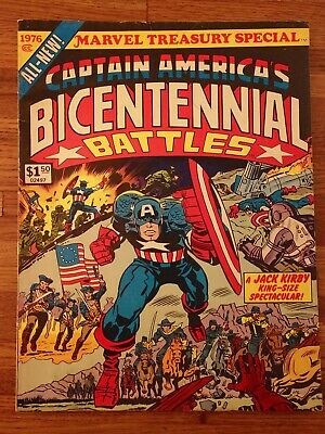 Captain America Bicentennial Battles, SIGNED  by Jack Kirby! Treasury Edition