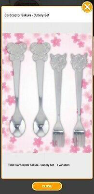 Card Captor Sakura clear card Cutlery Set fork spoon kero Toreba